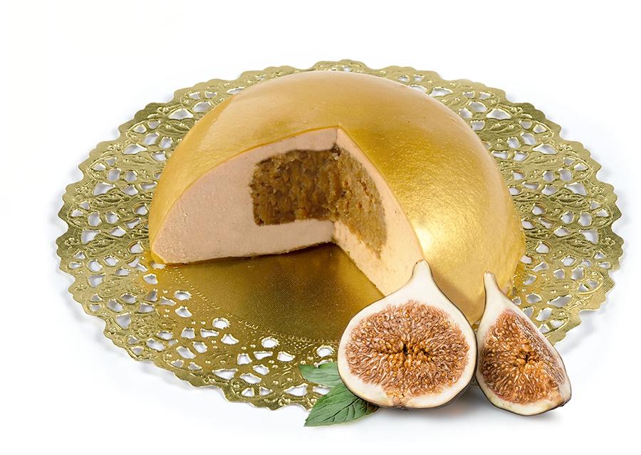 Bombón Oro, mousse de pato relleno con higos