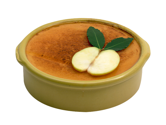 Mousse de pato con manzana