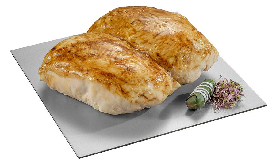 Pechuga de pollo enrollada