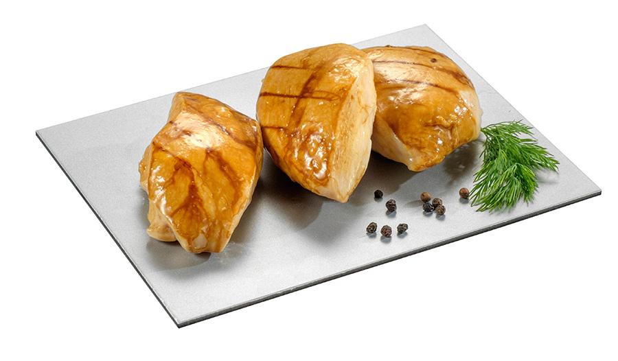 Pechuga de pollo grillé (90g)