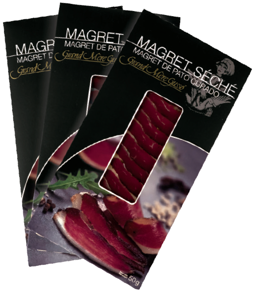 Magret curado fileteado