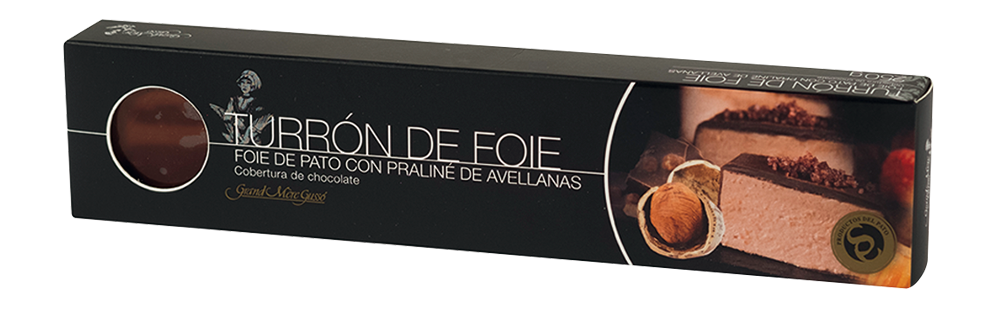 Foie de pato con praliné de avellanas (Cobertura de chocolate)